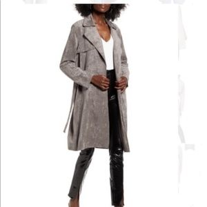 NWT BlankNYC Faux Suede Soft Trench Gray Size XS